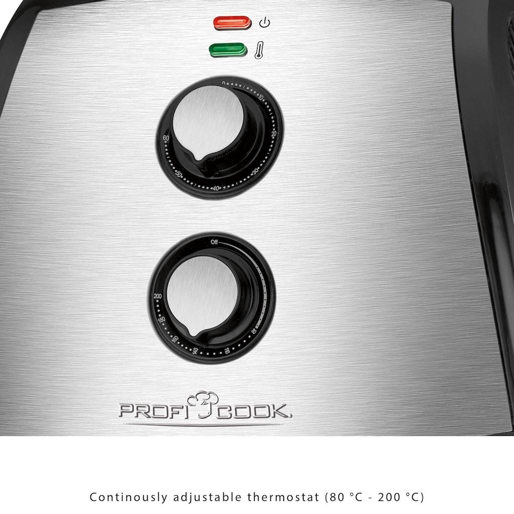 ProfiCook Heissluftfritteuse »PC-FR 1115 H«, 1500 W, Fassungsvermögen 3,5 l