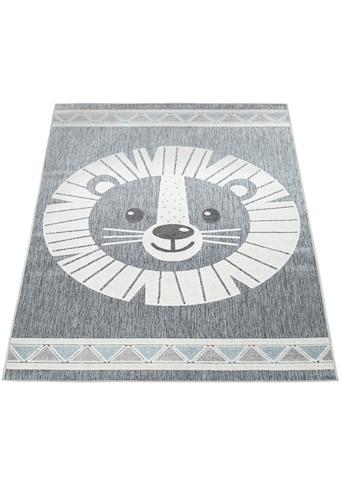 Paco Home Kinderteppich »Tweet 467«, rechteckig, 8 mm Höhe, Motiv Löwe, In- und... kaufen