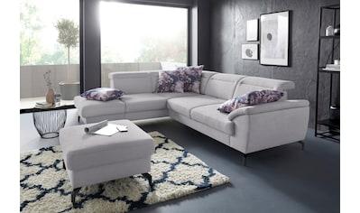 sit&more Ecksofa, 12 cm Fußhöhe, inklusive Sitztiefenverstellung, wahlweise... kaufen