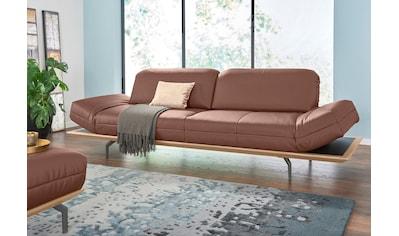 hülsta sofa 3-Sitzer »hs.420«, in 2 Qualitäten, Holzrahmen in Eiche Natur oder Nußbaum kaufen
