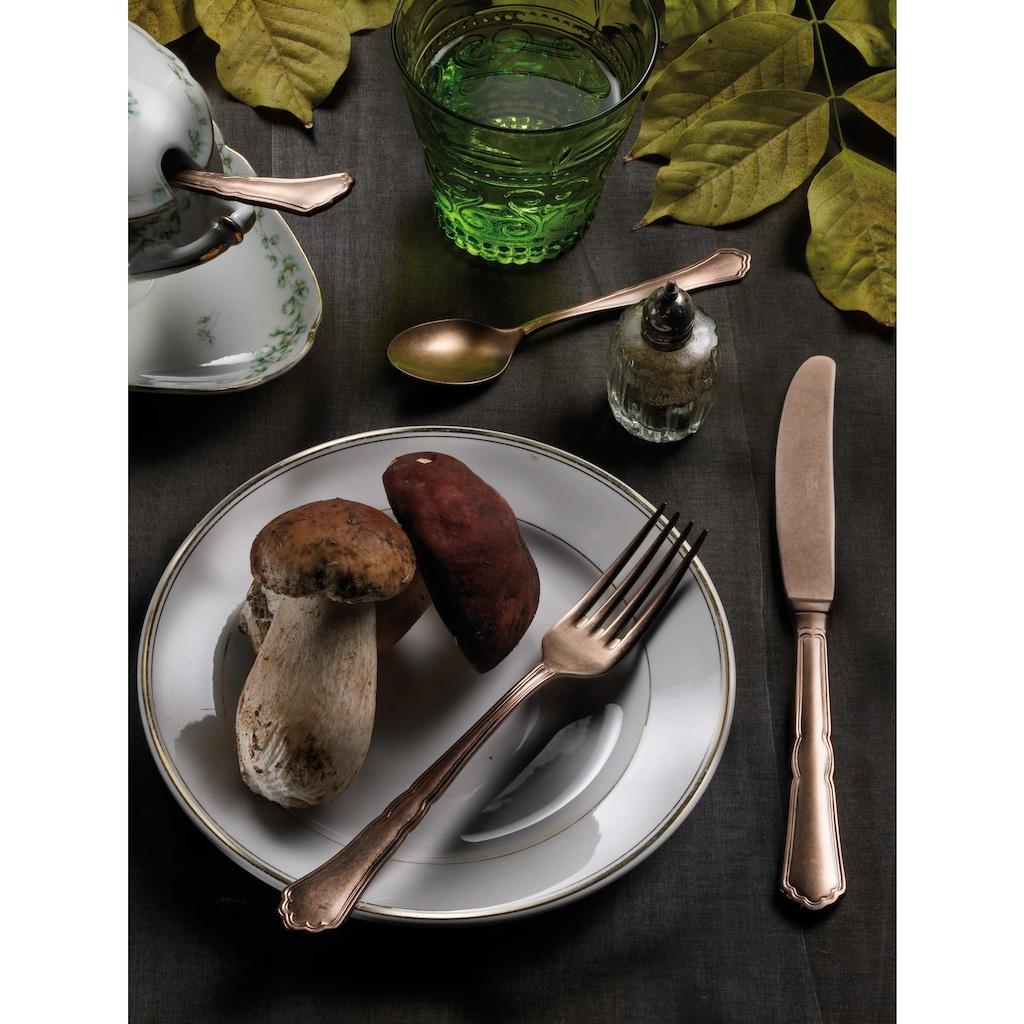 PINTINOX Besteck-Set »Settecento Alchemique Bronze«, (Set, 30 tlg.), Edelstahl 18/10, Optik Bronze SW PVD Beschichtung, 30-teilig