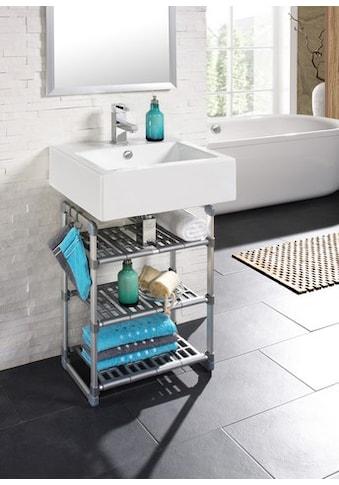 Ruco Standregal, Aluminium/Kunststoff, mit 3 höhenverstellbaren Böden kaufen