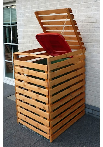 PROMADINO Mülltonnenbox »Vario V«, für 1 x 240 l, braun kaufen