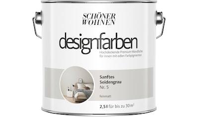 SCHÖNER WOHNEN-Kollektion Wandfarbe »Designfarben«, sanftes Seidengrau Nr. 5, feinmatt... kaufen