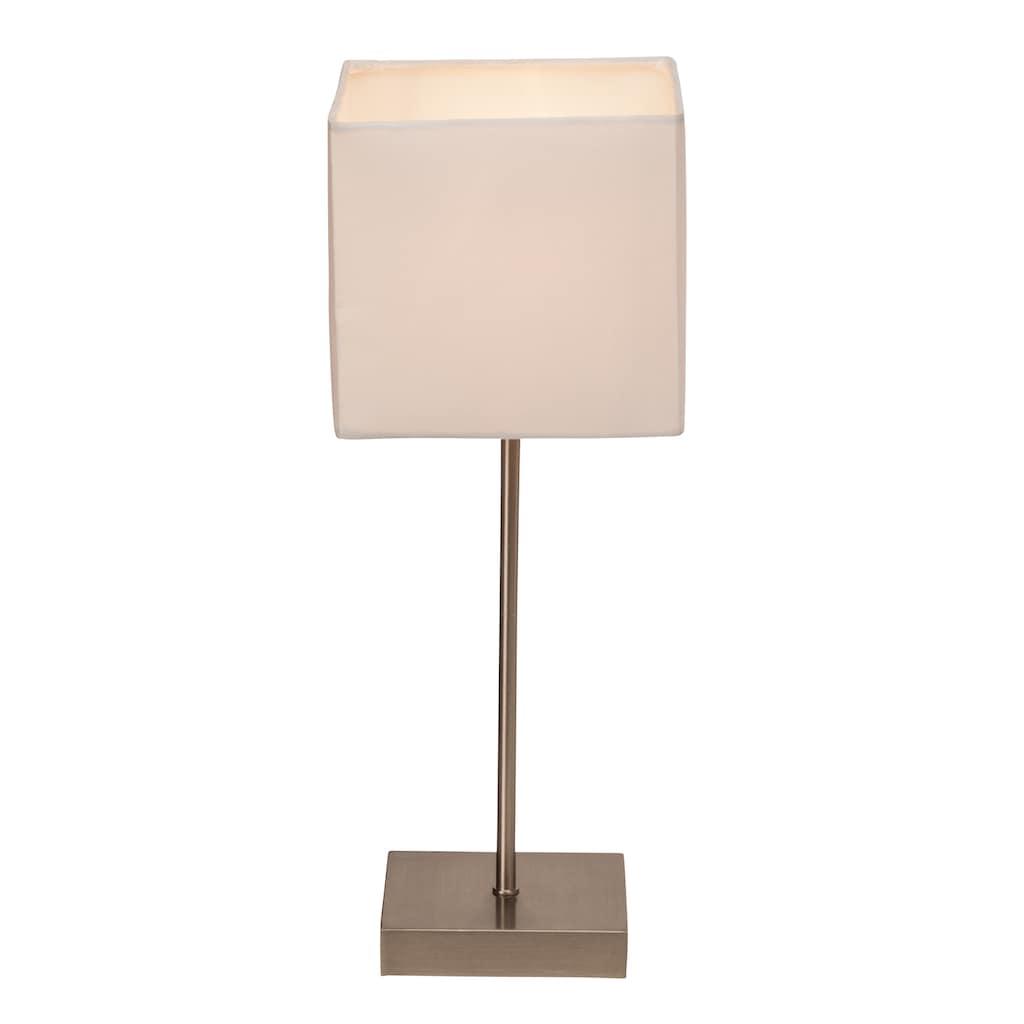 Brilliant Leuchten Aglae Tischleuchte Touchschalter weiß