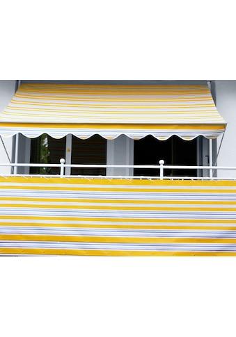 Angerer Freizeitmöbel Balkonsichtschutz, Meterware, gelb/grau, H: 90 cm kaufen