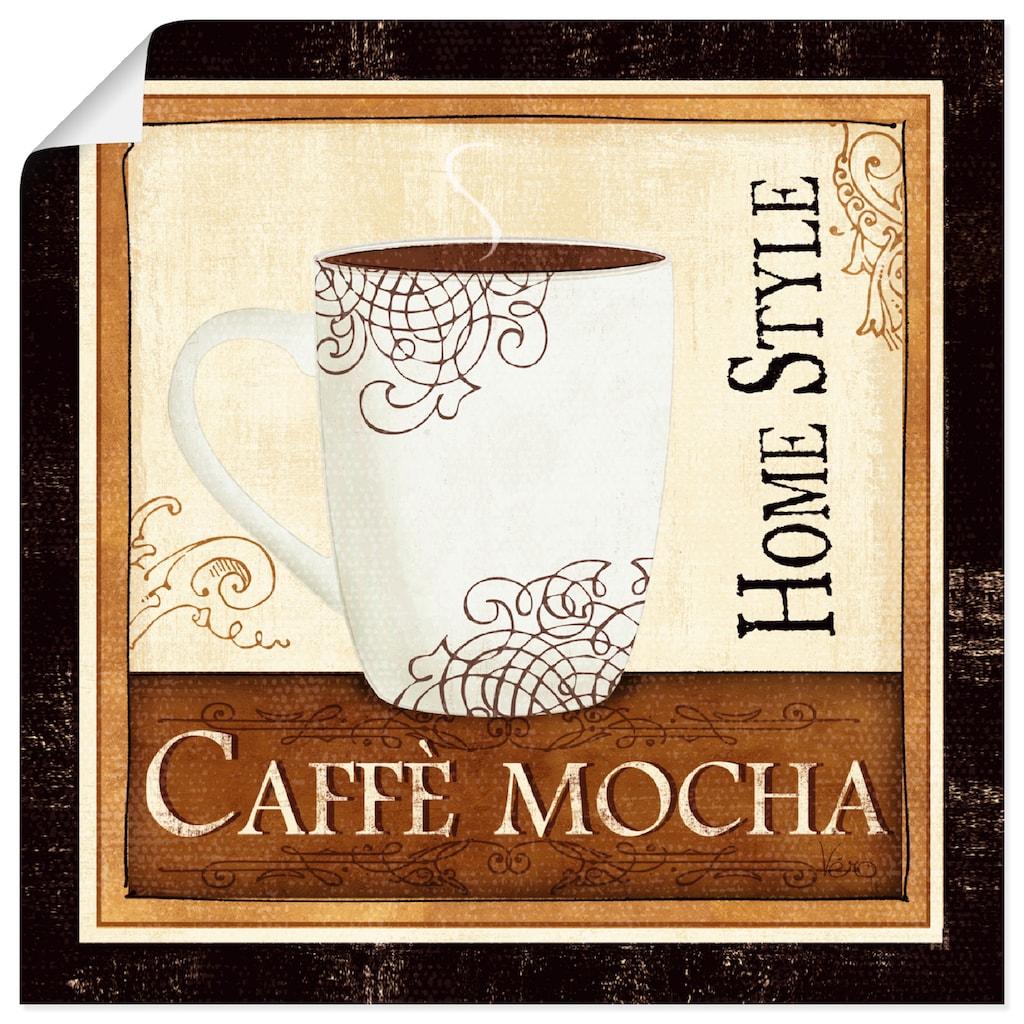 Artland Wandbild »Kaffee und Sahne IV«, Getränke, (1 St.), in vielen Größen & Produktarten -Leinwandbild, Poster, Wandaufkleber / Wandtattoo auch für Badezimmer geeignet