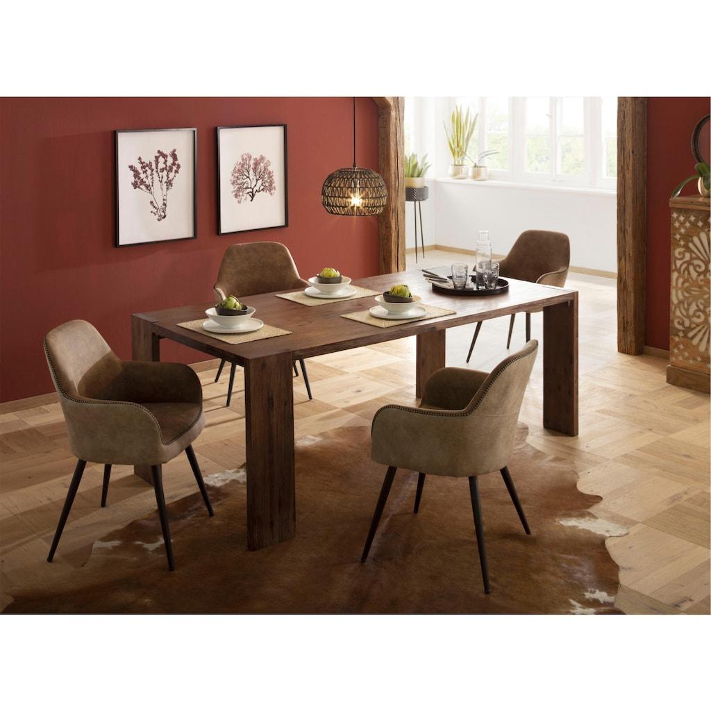 Home affaire Esstisch »Marbella«, aus massivem Akazienholz, in unterschiedlichen Tischgrößen