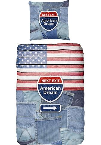 good morning Jugendbettwäsche »Denim«, mit Jeans-Motiv kaufen