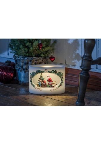 KONSTSMIDE LED-Kerze, LED Echtwachskerze Weihnachtsmann mit Kind kaufen