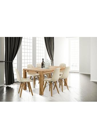 Home affaire Essgruppe »Tim«, (Set, 7 St.), bestehend aus 6 Stühlen und einem... kaufen