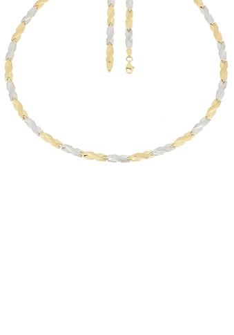 Firetti Goldkette »In Stampatokettengliederung, 4,8 mm breit, glänzend, teilw. rhodiniert, bicolor« kaufen