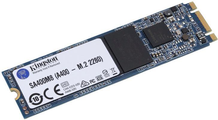 Kingston »A400 M.2« SSD-Festplatte (SATA, 500 MB/s Lesegeschwindigkeit)