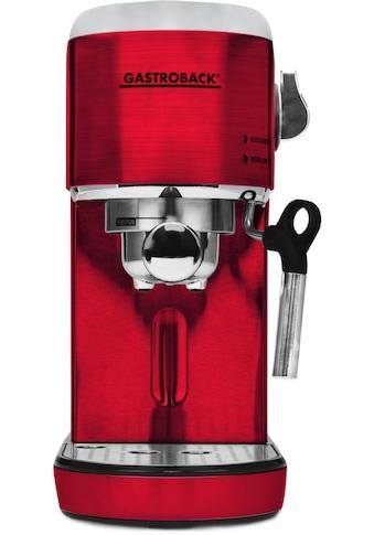Gastroback Espressomaschine »42719 Design Espresso Piccolo rot« kaufen
