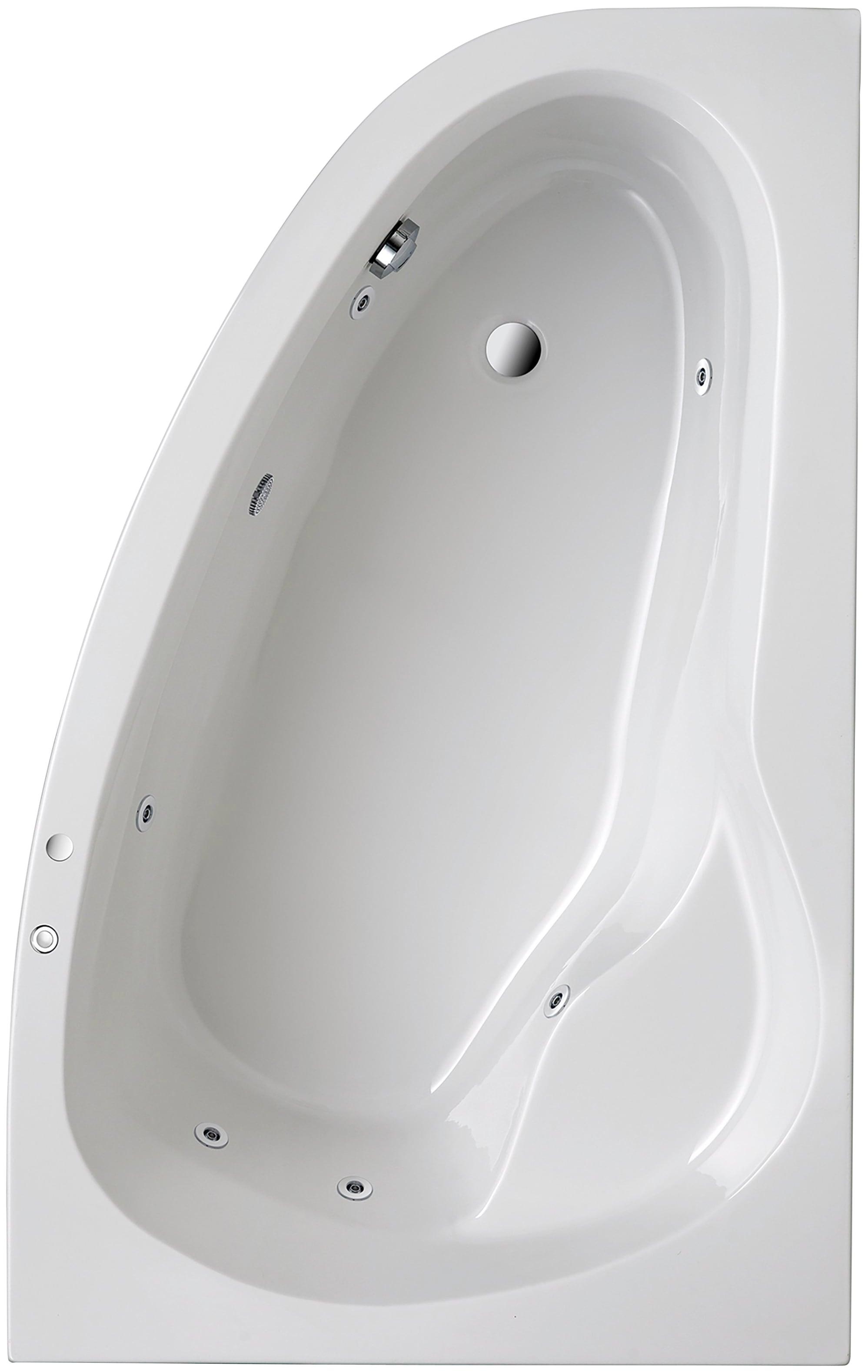 OTTOFOND Eckwanne »Loredana«, B/T/H in cm: 175/110/56, mit Whirlpool-System | Bad > Badewannen & Whirlpools > Eckbadewannen | Weiß | OTTOFOND