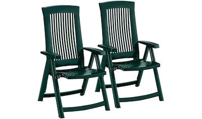 Best Gartenstuhl »Kansas«, 2er Set, Kunststoff, verstellbar, grün kaufen