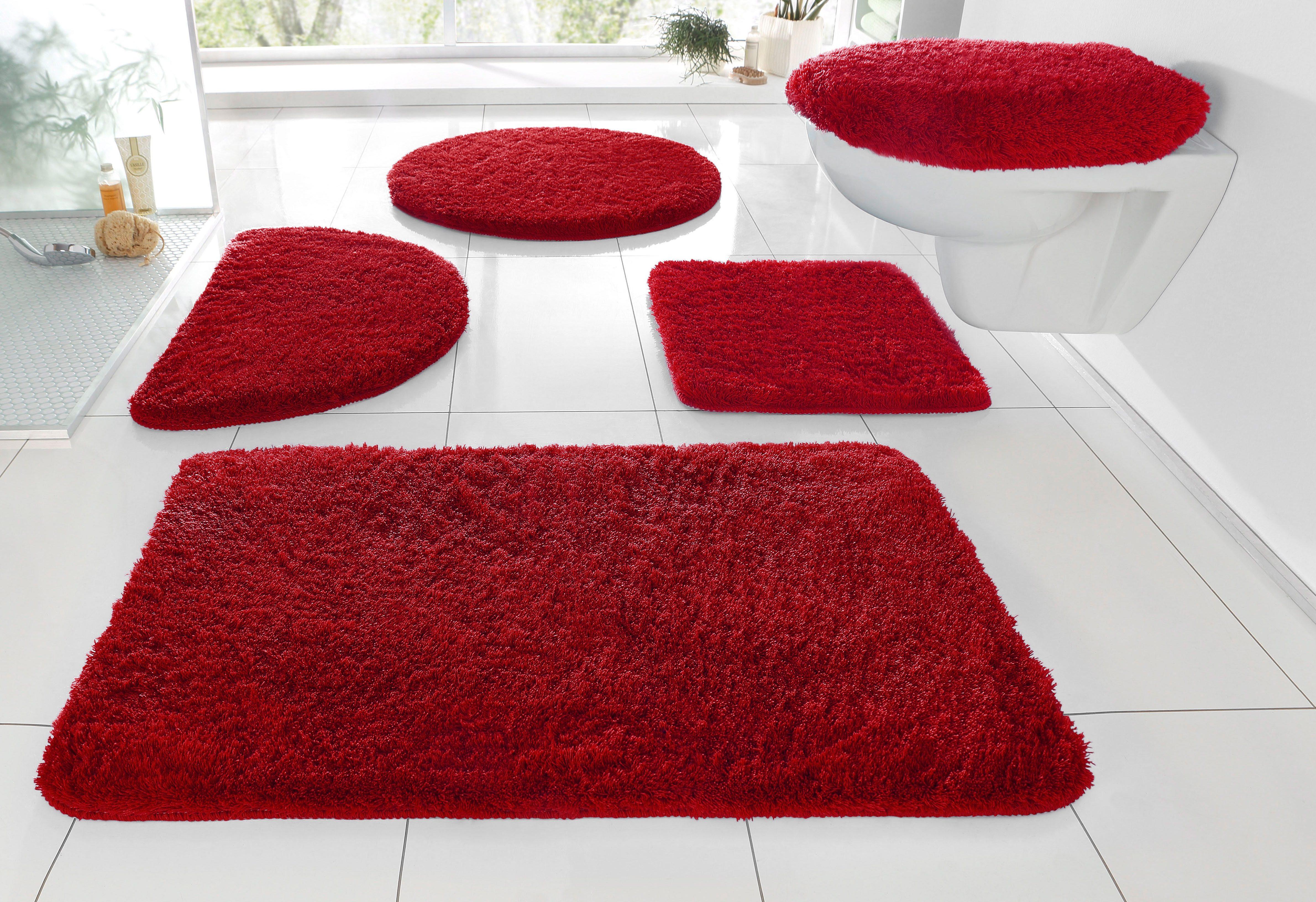 Badematte »Merida«, my home, Höhe 32 mm, fußbodenheizungsgeeignet | Bad > Badgarnituren > Badvorleger | Rot | MY HOME
