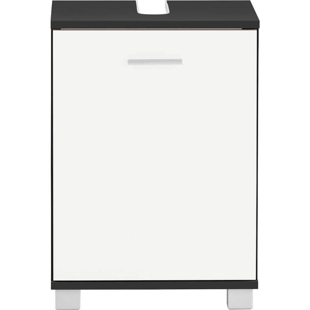 Schildmeyer Waschbeckenunterschrank »Lagona«, Breite 41 cm, wechselbarer Türanschlag, Griff & Beschläge aus Metall