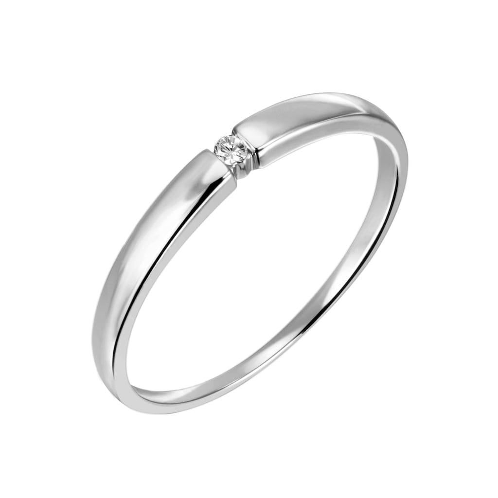 Firetti Diamantring »Verlobung, zart und edel, Spannfassung, Glanz, massiv«, mit Brillant