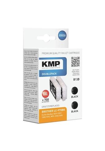 KMP 2er - Pack Tintenpatrone ersetzt Brother schwarz »LC - 970Bk« kaufen