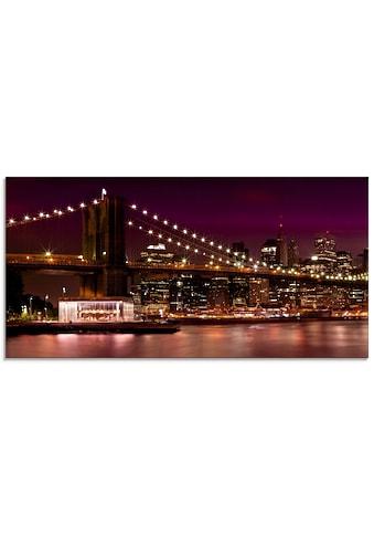Artland Glasbild »Nächtliche Skyline Manhattan II«, Amerika, (1 St.) kaufen