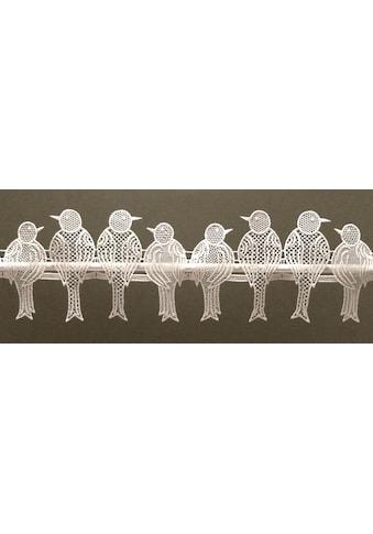 Stickereien Plauen Scheibengardine »Spatzen« kaufen