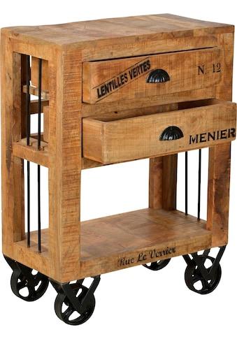 SIT Küchenwagen »Rustic«, mit schwarzen Schriftzügen, Shabby Chic, Vintage kaufen