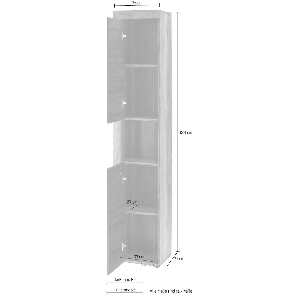 trendteam Hochschrank »CANCUN«, mit Rahmenoptik in Holztönen, Breite 36 cm