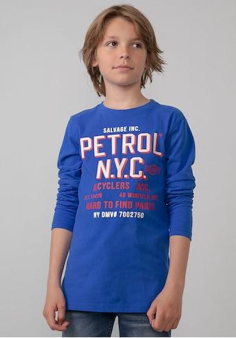 Petrol Industries Langarmshirt »HARD TO FIND PARTS« kaufen