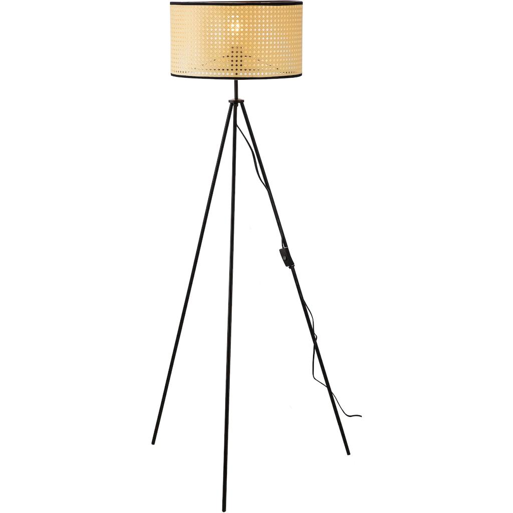 Nino Leuchten Stehlampe »LU«, E27, 1 St., Stehleuchte, Wiener Geflecht