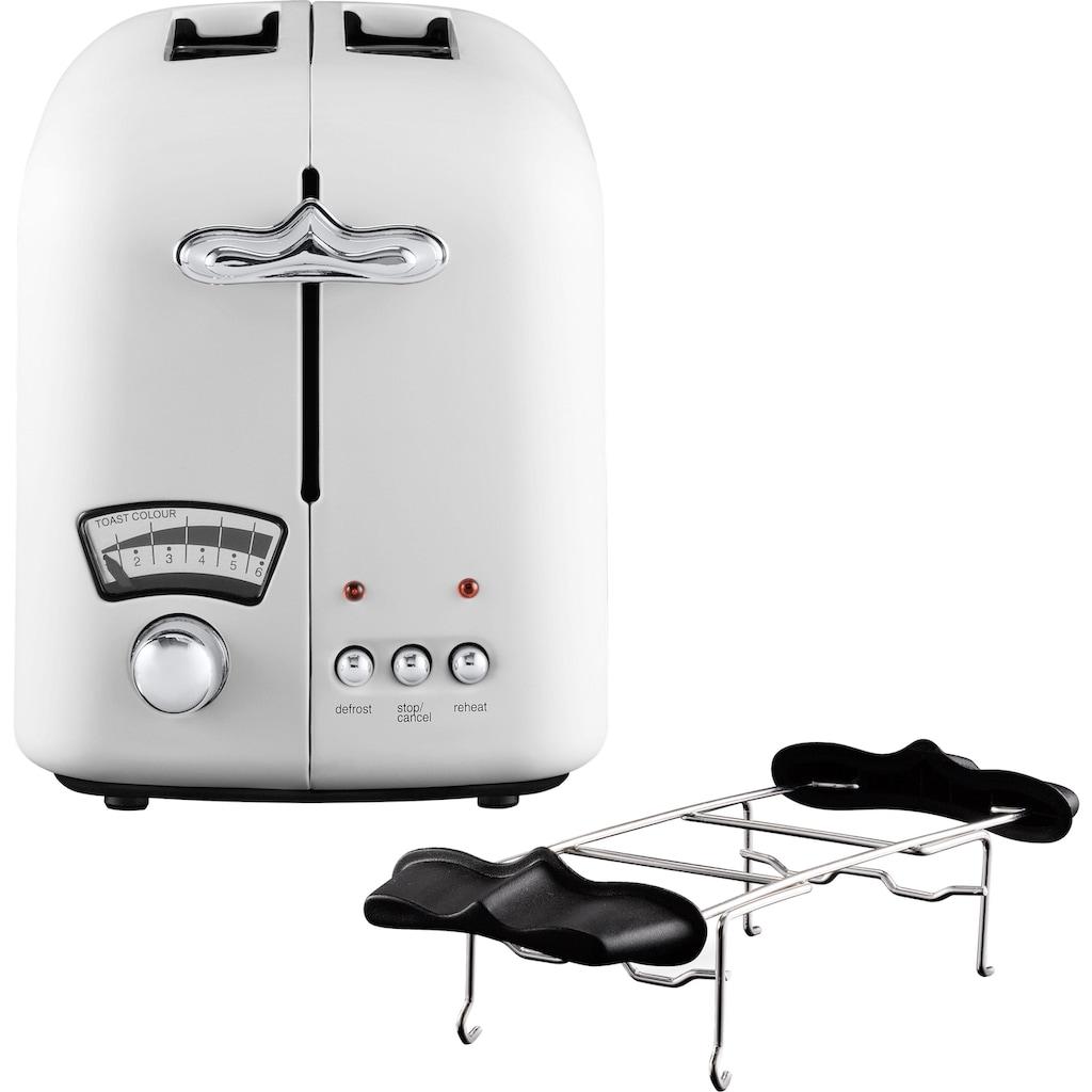 De'Longhi Toaster »Argento CTO21.W«, 2 lange Schlitze, 800 W
