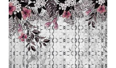 CONSALNET Papiertapete »Rosa Muster mit Blumen«, in verschiedenen Größen kaufen