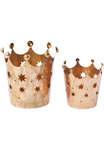 Windlicht »Kronen« (Set, 2 Stück) kaufen