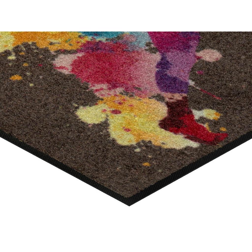 wash+dry by Kleen-Tex Fußmatte »Runiac«, rechteckig, 7 mm Höhe, Schmutzfangmatte, In- und Outdoor geeignet, waschbar
