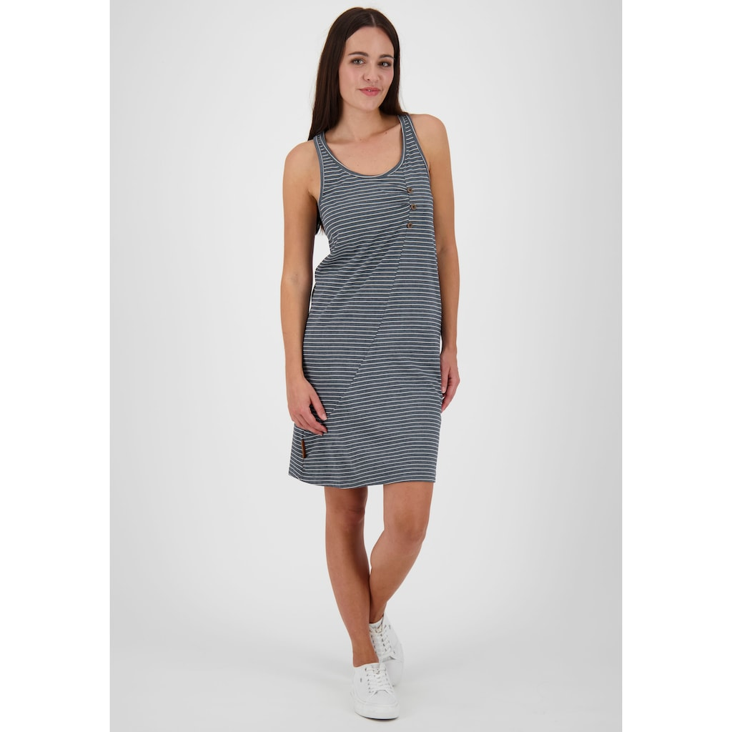 Alife & Kickin Jerseykleid »CamyAK«, süßes Trägerkleid in Wickelkleid-Optik mit Alloverprint