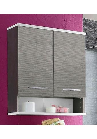 Schildmeyer Hängeschrank »Rhodos«, Breite 60 cm, verstellbarer Einlegeboden, Metallgriffe, 1 offenes Fach & 2 Türen kaufen