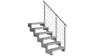 DOLLE Außentreppe »Gardentop«, für Geschosshöhen bis 132 cm, Gitterroststufen 80 cm kaufen