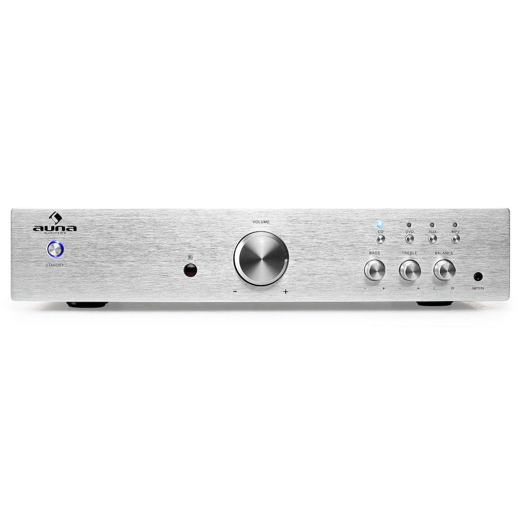 Auna HiFi-Verstärker Stereo 600 W Endstufe MP3 Front AUX Equalizer