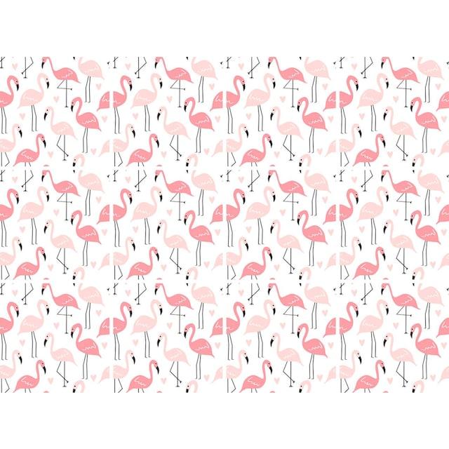 Fliesenaufkleber »Flamingos«