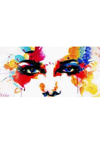 Gemälde »XOXO / Colourful Face« (100/3,5/50 cm) kaufen