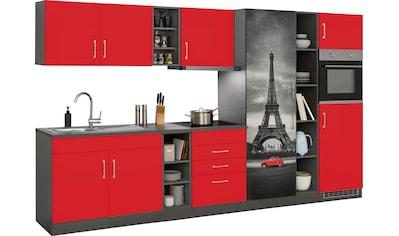 HELD MÖBEL Küchenzeile »Paris«, mit E-Geräten, Breite 390 cm kaufen