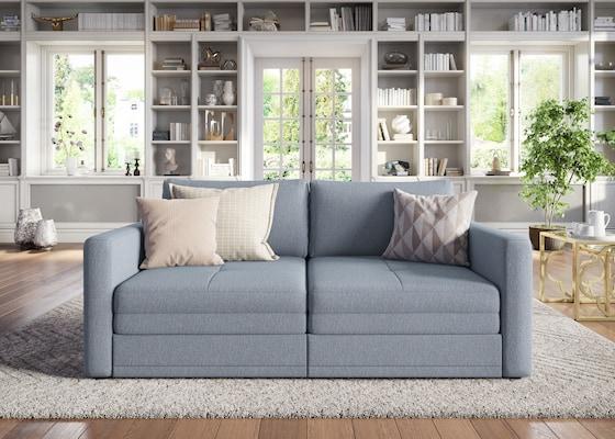 hellgraues Big-Sofa
