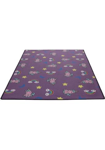 Living Line Kinderteppich »Einhorntraum«, rechteckig, 7 mm Höhe, Velours, Motiv... kaufen