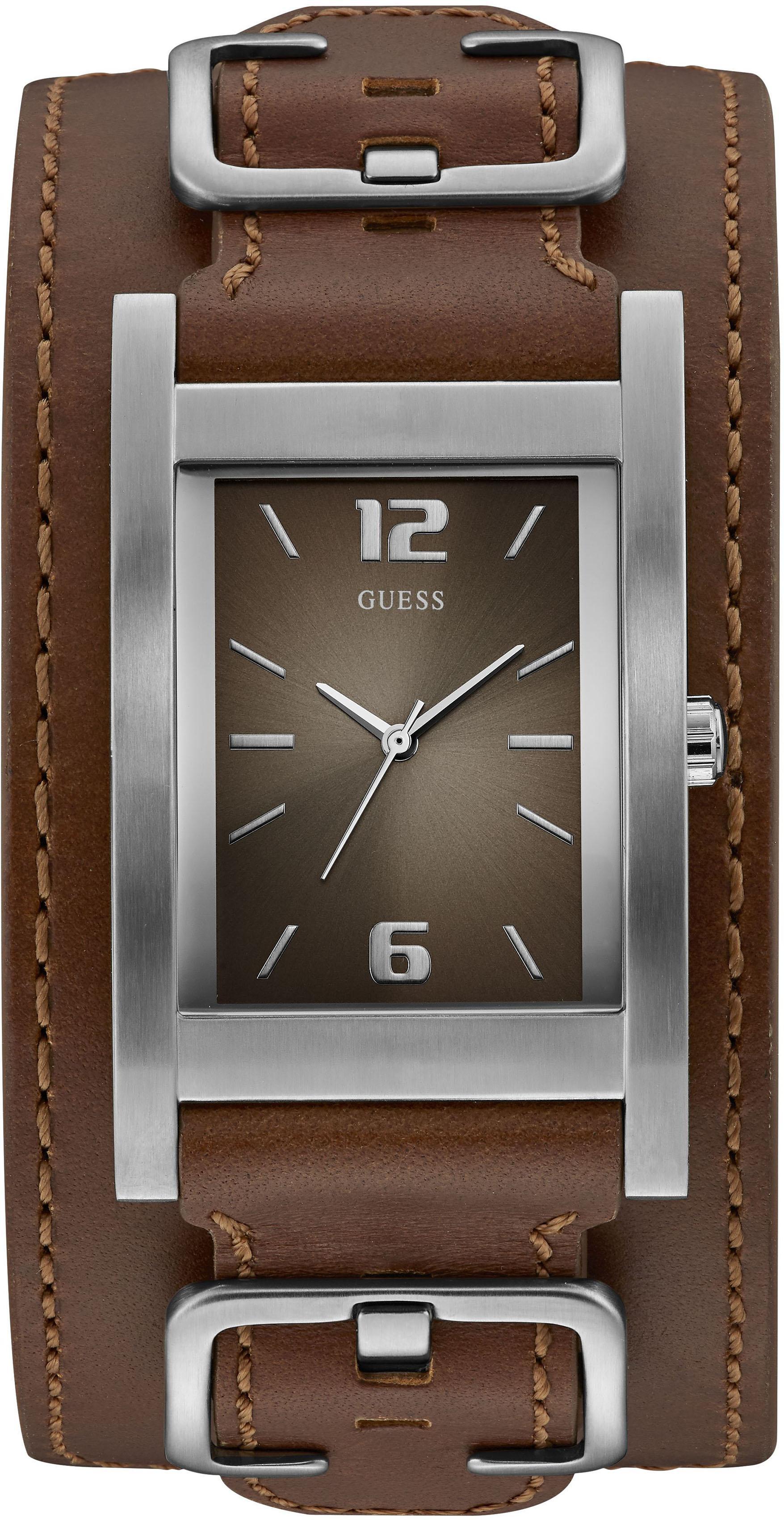 Guess Quarzuhr »SADDLE UP, W1165G1« | Uhren > Quarzuhren | Braun | Guess