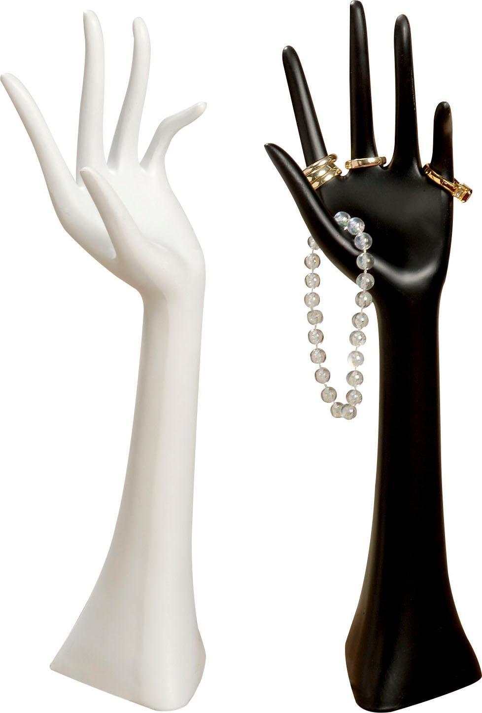 BOLTZE Schmuckständer »Hand« (Set, 2-tlg.) | Schmuck > Schmuckaufbewahrungen > Schmuckständer | Weiß | BOLTZE
