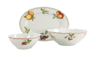 CreaTable Servier-Set »Flora Orchard«, (Set, 1 Platte, 2 Schüsseln) kaufen