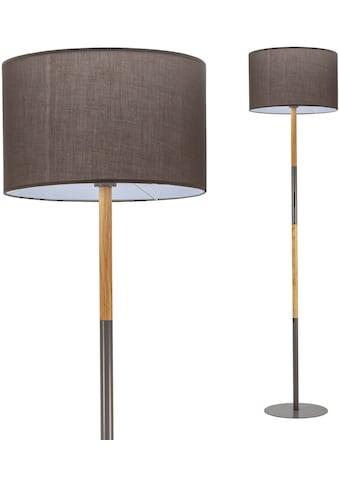 Pauleen Stehlampe »Grand Purity«, E27, 1 St., Stoffschirm Grau kaufen