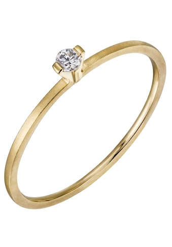 Firetti Diamantring »Verlobung, teilw. gesandelt und poliert, massiv«, mit Brillant kaufen