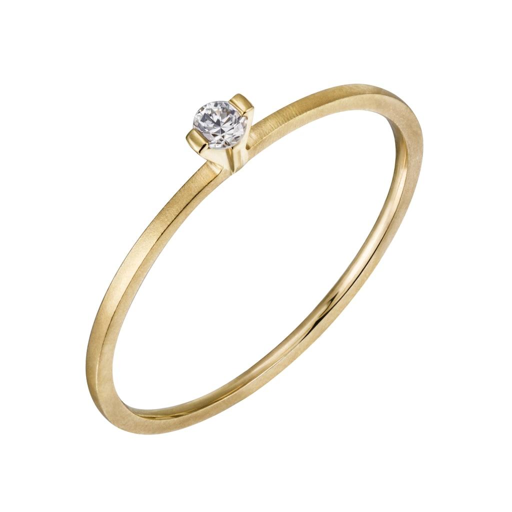 Firetti Diamantring »Verlobung, teilw. gesandelt und poliert, massiv«, mit Brillant