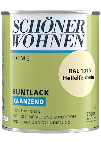 SCHÖNER WOHNEN-Kollektion Lack »Home Buntlack«, glänzend, 750 ml, hellelfenbein RAL 1015 kaufen